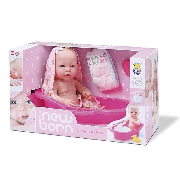 Boneca Newborn Banho de Carinho