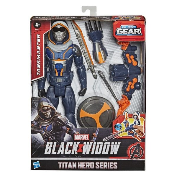 Boneco Avengers Blast Gear Viuva Negra Skull com acessórios