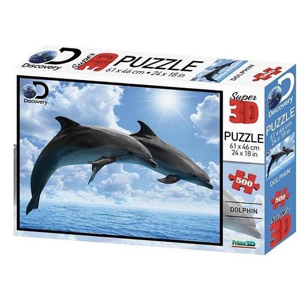 Quebra Cabeça 3D Golfinho 500 peças