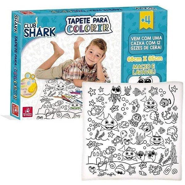 Tapete Para Colorir Club Shark
