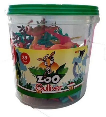 Playset Zoo 30fig+arvore+cercas Balde