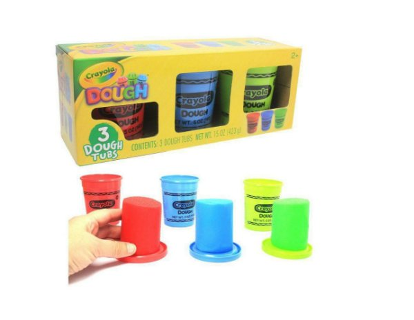 Crayola massa de modelar c/3 cores sort