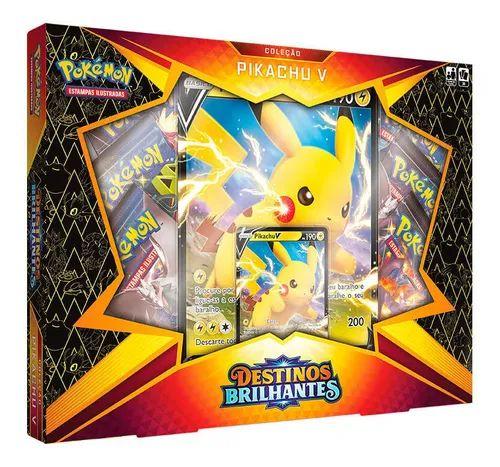 Box Pokemon Pikachu V - Destinos Brilhantes