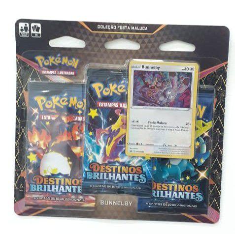Pokémon Kit c/3 Booster Destinos Brilhantes