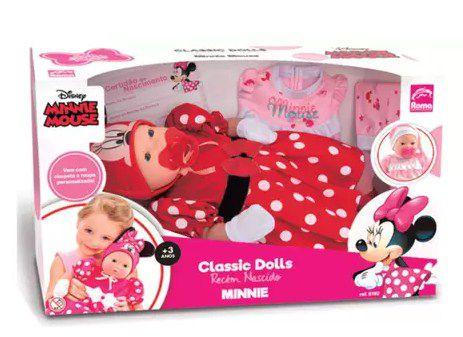 Classic Dolls Recém Nascido Minnie