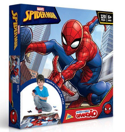 Quebra-Cabeça 120 Peças Spider Man Grandão