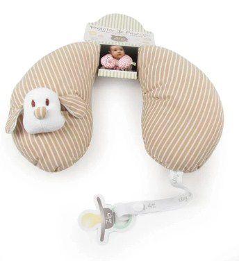 Protetor de Pescoço listrado Baby Bege