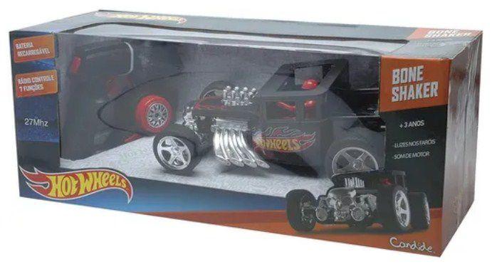Carro com controle Bone Shaker Hot  Wheels
