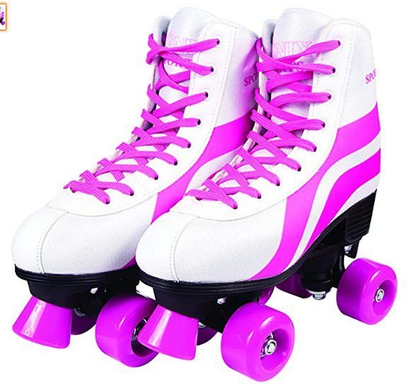 Patins 04 Rodas Roller Skate branco 38-39