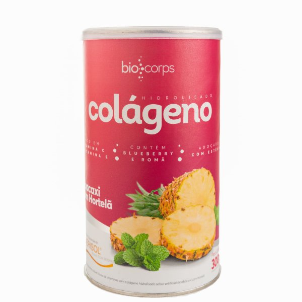 Colágeno Hidrolisado Verisol Biocorps 300g Abacaxi com hortelã