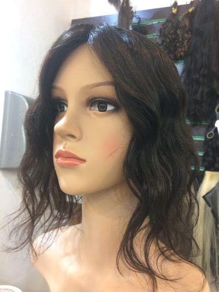 protese capilar feminina com micropele cabelo humano