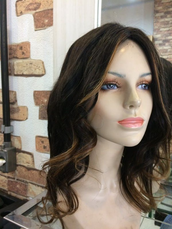 peruca quimioterapia com silk top cabelo humano