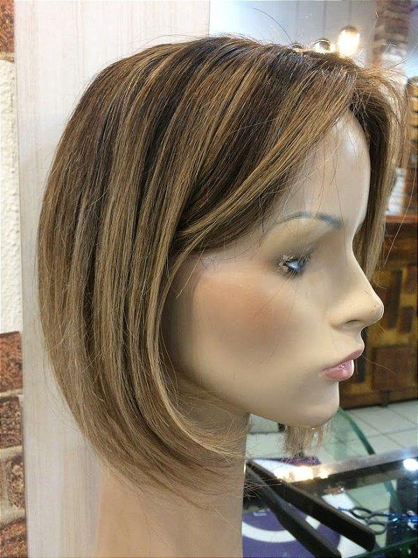 protese capilar feminina silicone cabelo chanel