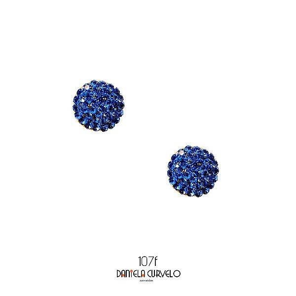Brinco Pequeno Redondo Azul Bic - BFA107AZ