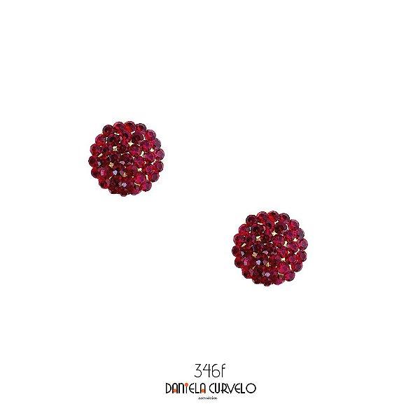Brinco Pequeno Redondo Marsala - BF346MS