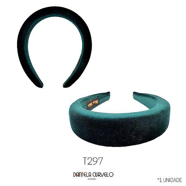 -Tiara Acolchoada Verde - T297