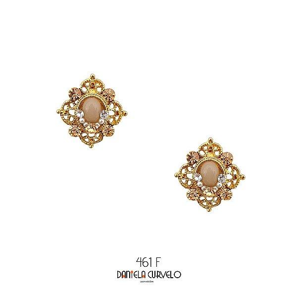 Brinco Pequeno Rosê e Dourado - BF461RO