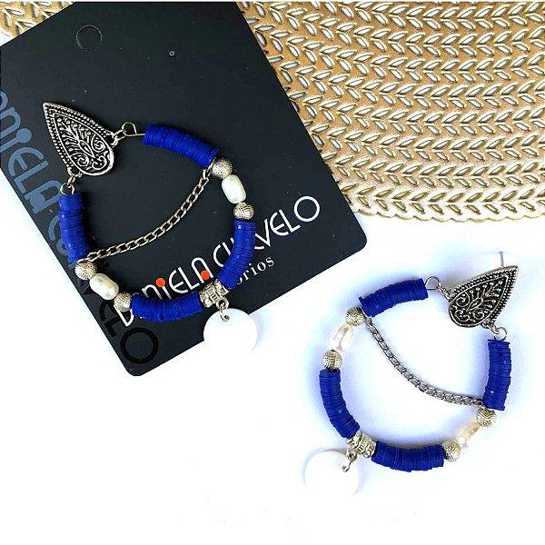 Brinco Argola Disco (Cores)  - 11S