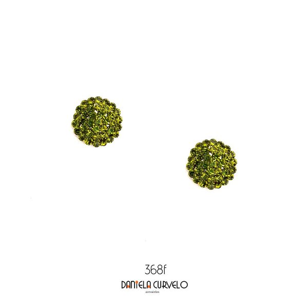 Brinco Pequeno Redondo Verde Musgo - BF368VM