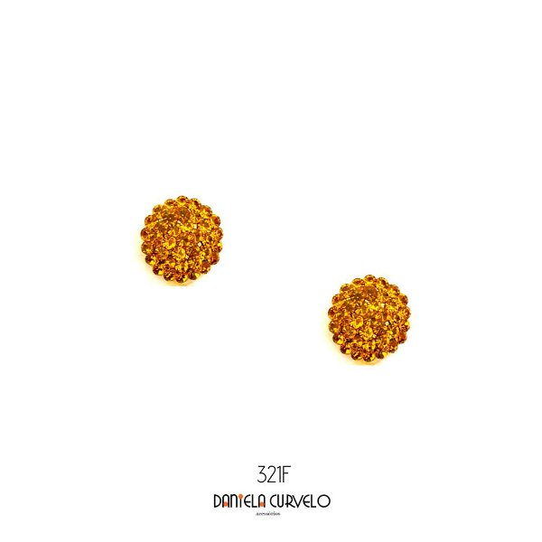 Brinco Redondo Mostarda - BF321MS