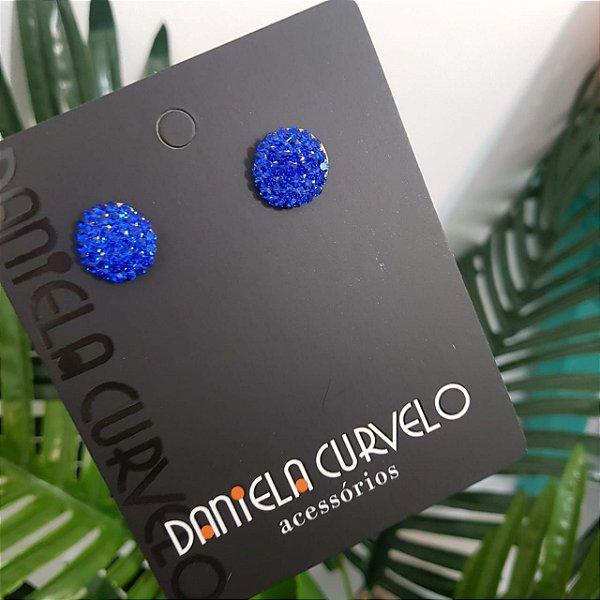 Brinco Redondo Azul - BF326AZ
