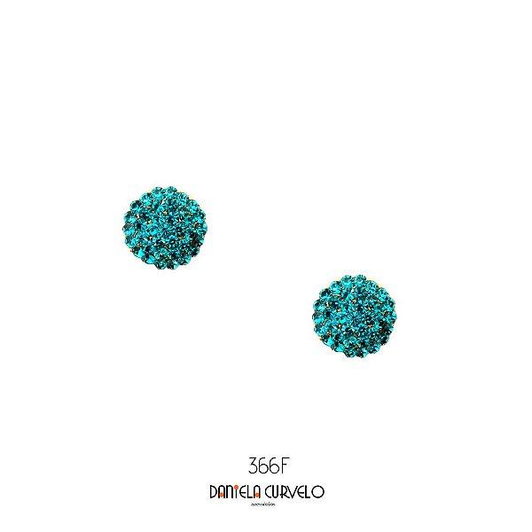 Brinco Pequeno Redondo Turquesa - BF366TQ