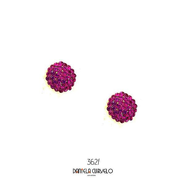Brinco Redondo Rosa Pink - BF362RP