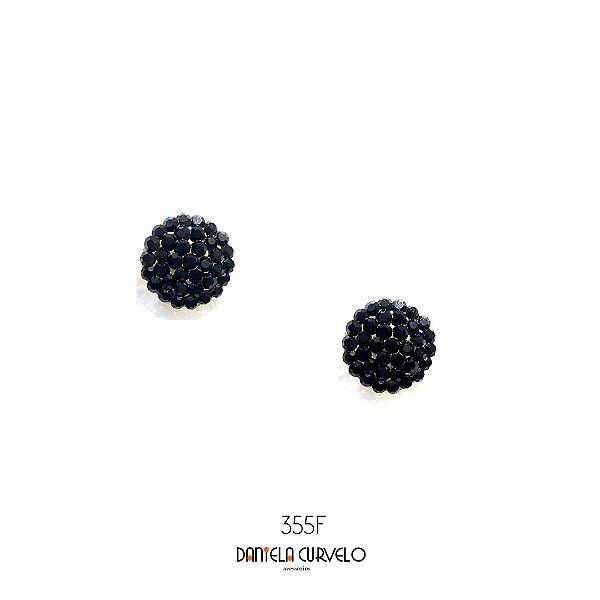Brinco Pequeno Redondo  Preto - BF374PO