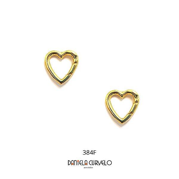 Brinco Coração Pequeno Dourado - BF384DR