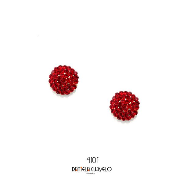 Brinco Redondo Vermelho - BF410VO