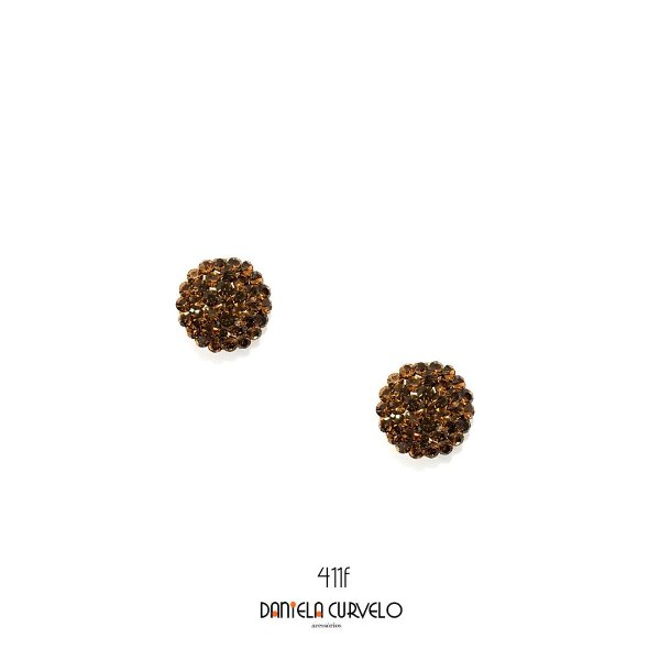Brinco Pequeno Redondo Marrom - BF411MR
