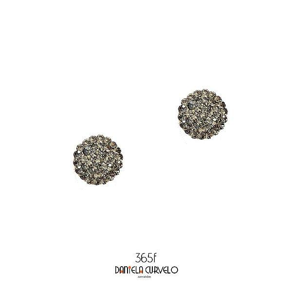 Brinco Pequeno Redondo Cinza - BF365CZ