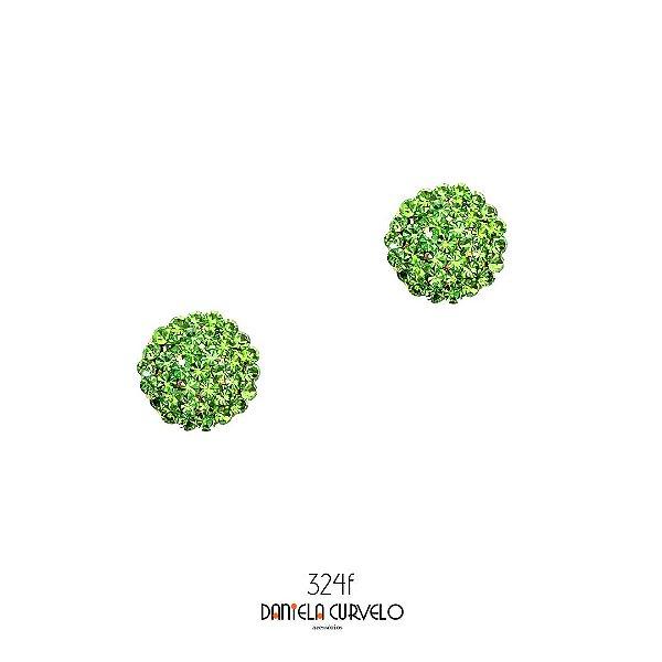 Brinco Pequeno Redondo Verde Claro - BF324VE