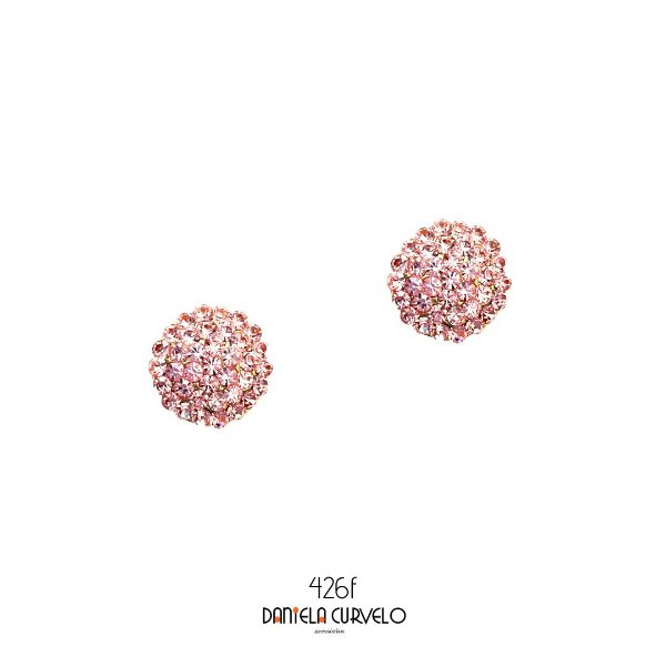 Brinco Pequeno Redondo Rosa Claro- BF426RC