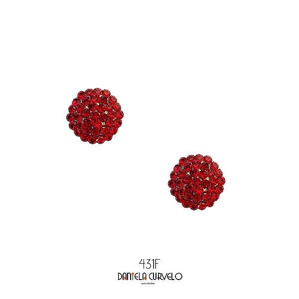 Brinco Pequeno Redondo Rubi - BF431RB