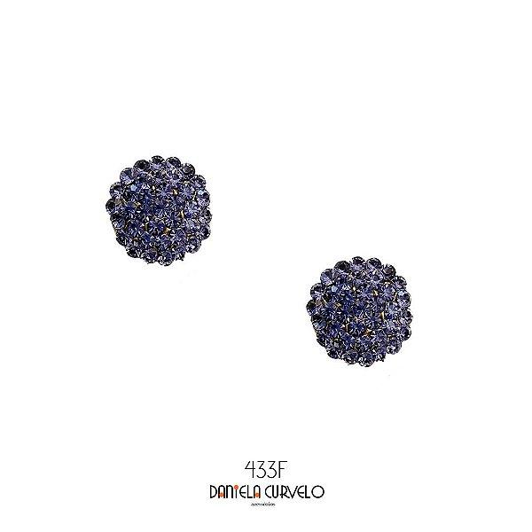 Brinco Pequeno Redondo Violeta- BF433VT