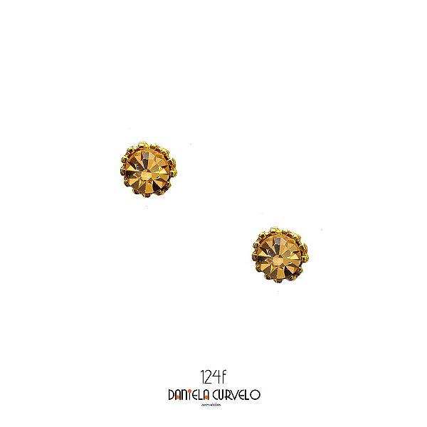 Brinco Ponto de Luz Dourado -BF124DR