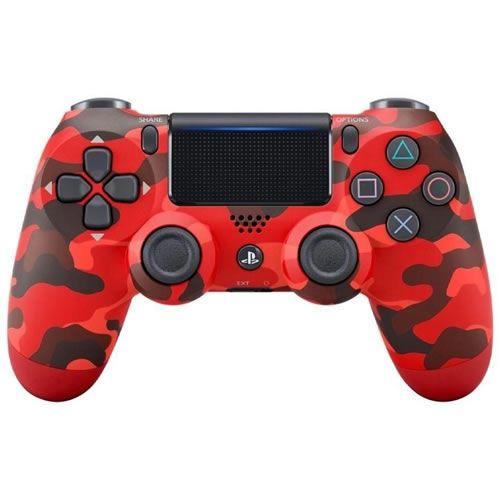 Controle DualShock 4 Sem fio PS4 Vermelho Camuflado - Garantia Oficial Sony