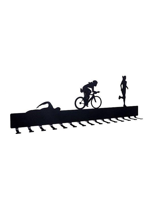 Porta Medalhas Triathlon Feminino