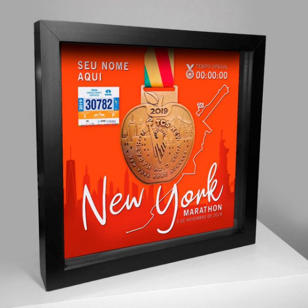 Quadro Medalha World Marathon Majors