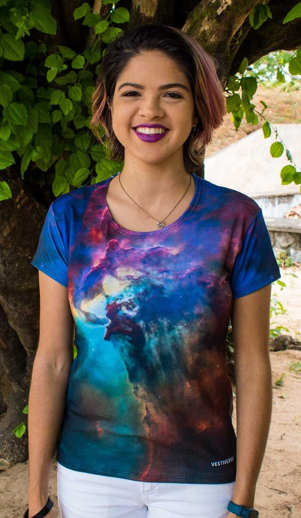Nebulosa Laguna | Linha Galáxia | Blusa Astronomia