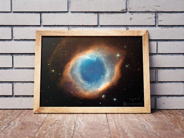 Quadro Nebulosa Helix | Loja do AstroTubers
