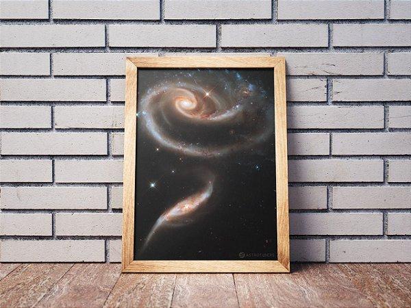 Quadro Rosa de Galáxias | Loja do Astrotubers