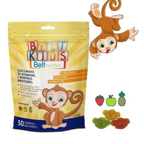 Belt Kids Zumba Pounch Polivitamínico e Polimineral - Sabor Misto - 30 Gominhas