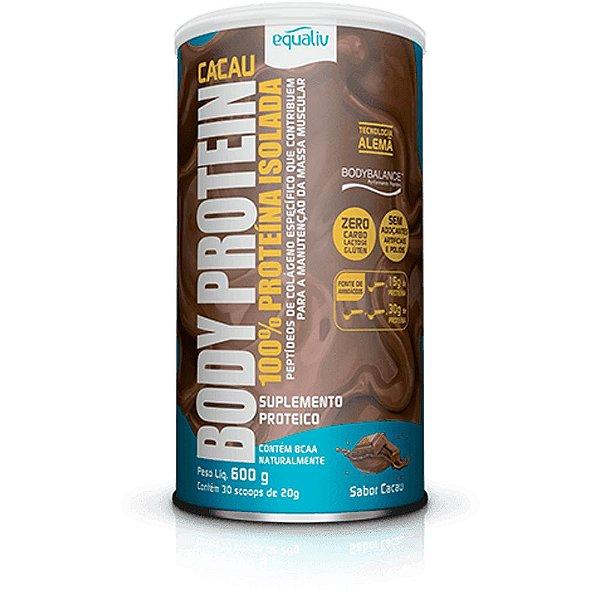 Body Protein Equaliv - Sabor Cacau - Proteína Isolada 600g