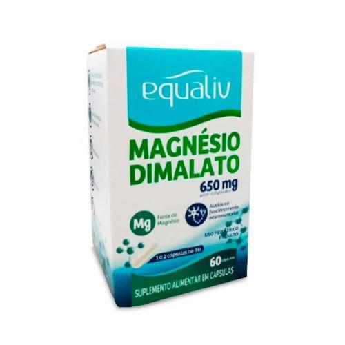 Magnésio Dimelato Equaliv - 60 Cápsulas