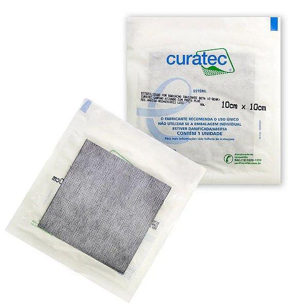 Curativo 10x10 de Carvão Ativado com Prata Plus - Curatec (Recortável)