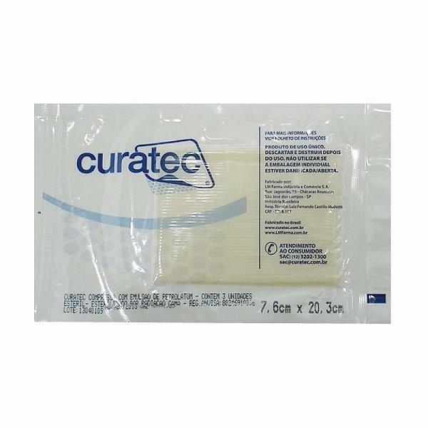 Compressa com Emulsão de Petrolatum - Curatec (7,6x20,3)