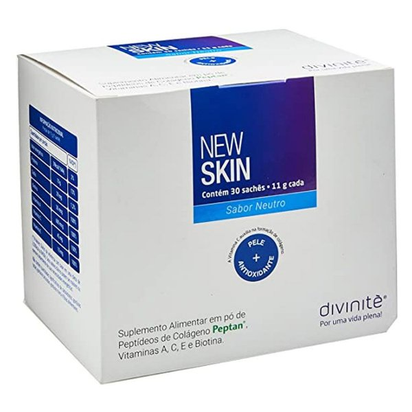 New Skin Divinitè Colágeno - Sabor Neutro - 30 Sachês
