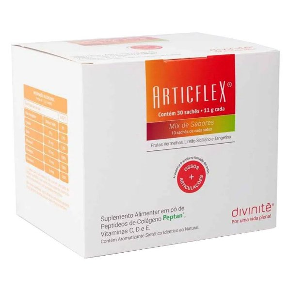 Articflex Colágeno para Articulações Divinitè - Mix de Sabores - 30 Sachês